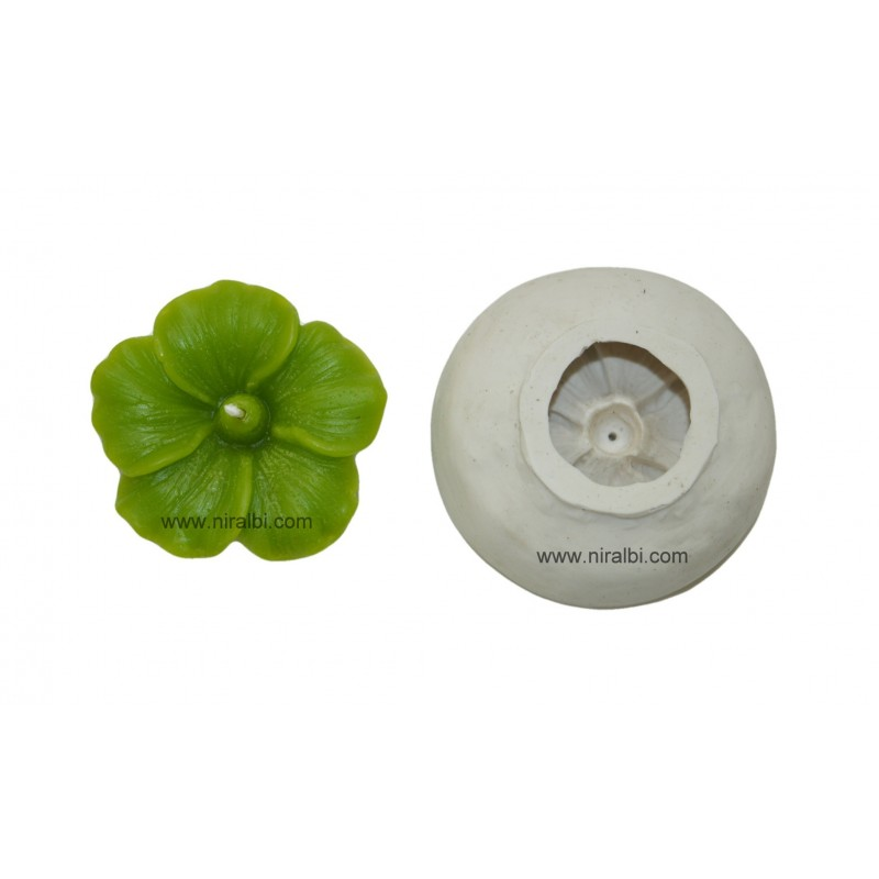 Silicone Rubber Hibiscus Flower Candle Mould