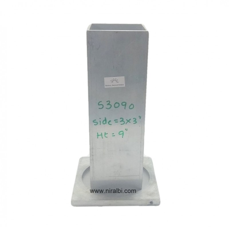 9'' Inch Square Candle Aluminium Mould