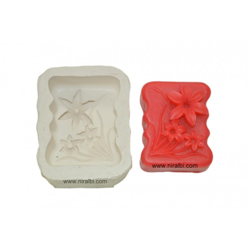 Cute Flowers Design Soap Mould
