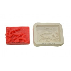 Dolphine Rectangle Silicone Soap Mould