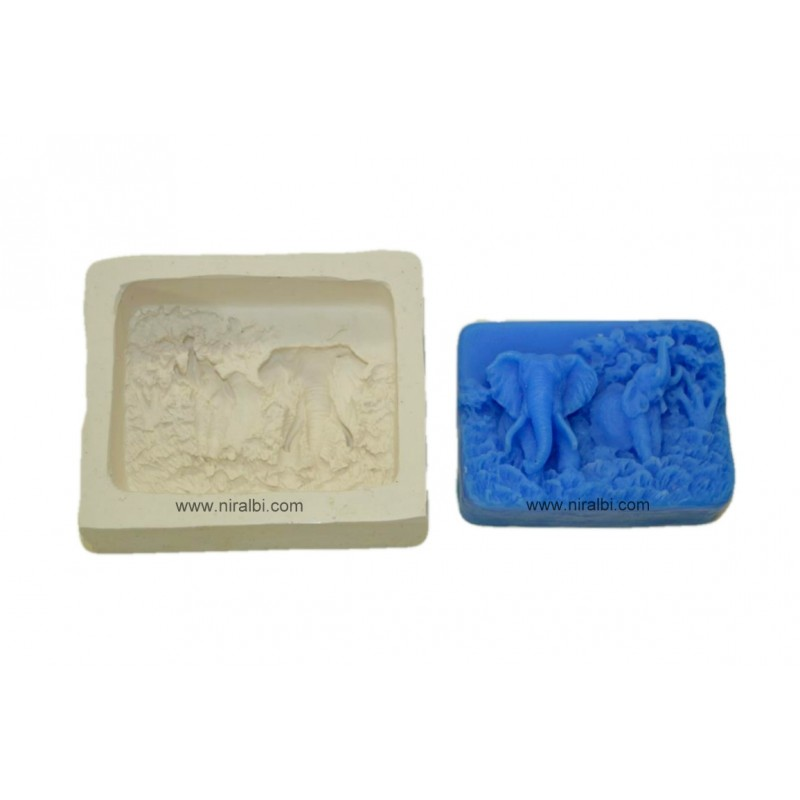 Niral Elephant Rubber Soap Mould