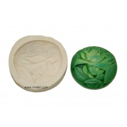 Half Face With Rose, Leaf Rubber Silicone Rubber Soap Mould
