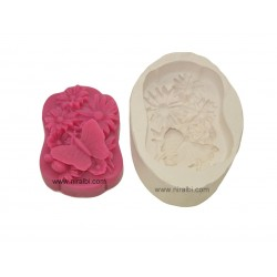 Butterfly With Flowers Silicone Soap Mold