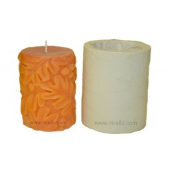 Rubber Cherry Leaf Pillar Candle Mould