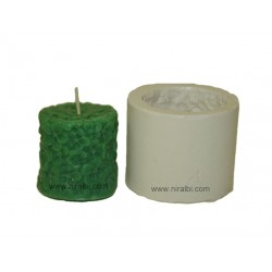 Small flower design pillar silicone candle mould