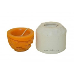 3 Wild Animal Small Design Hurricane Candle Mould
