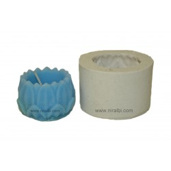 Small Lotus Designer Hurricane Candle Mould