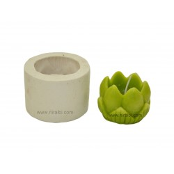 Medium Lotus Hurricane Flower Candle Mould