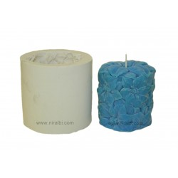 Small Flower Pillar Candle Mould