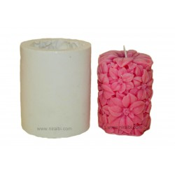 Daisy Medium Flower Design Pillar Candle Mould