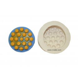 Circle Accupressure Rubber Soap Mould