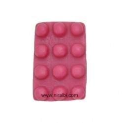 Silicone Rectangle Accupressure Soap Mould,