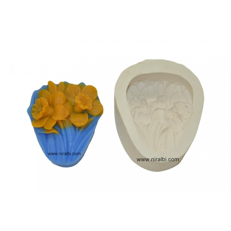 Bunch Of Flower Silicone Soap Making Mould