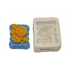 2D Sunflower Rubber Soap Mould