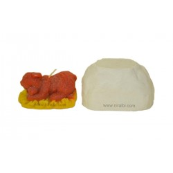 Sleeping Bear Design Pillar Candle Mould