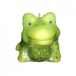 Rubber Vastu Frog Pillar Candle Mould