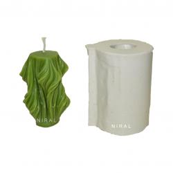 Rubber Vastu Frog Pillar Candle Mould