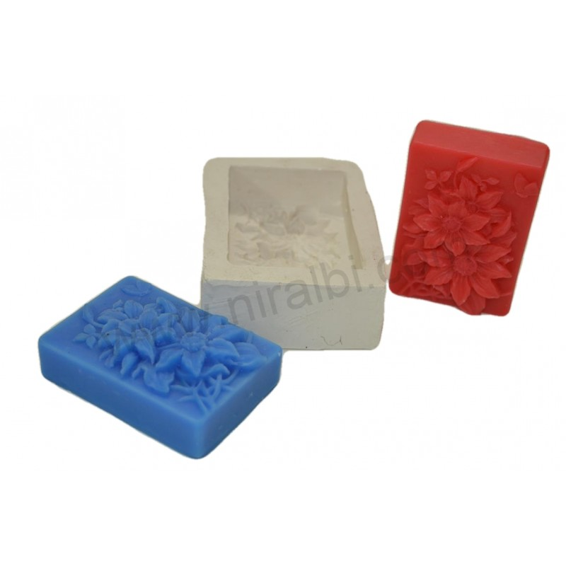 Flower Design Silicone Soap Mould