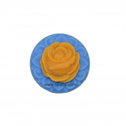 3D Rose In Rounded Shape Soap Mould