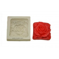 3D Rose In Square Silicone Soap Mould