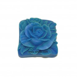 3D Rose In Square Shape Rubber Silicone Soap Mould