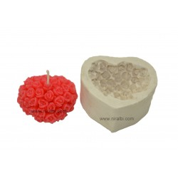 Small Heart shape flower floating candle mould