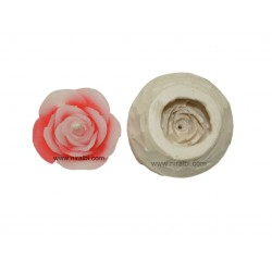 Rubber Rose Flower Candle Mould