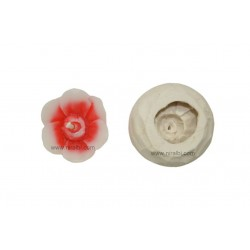 Rubber Designes Flower Candle Mould