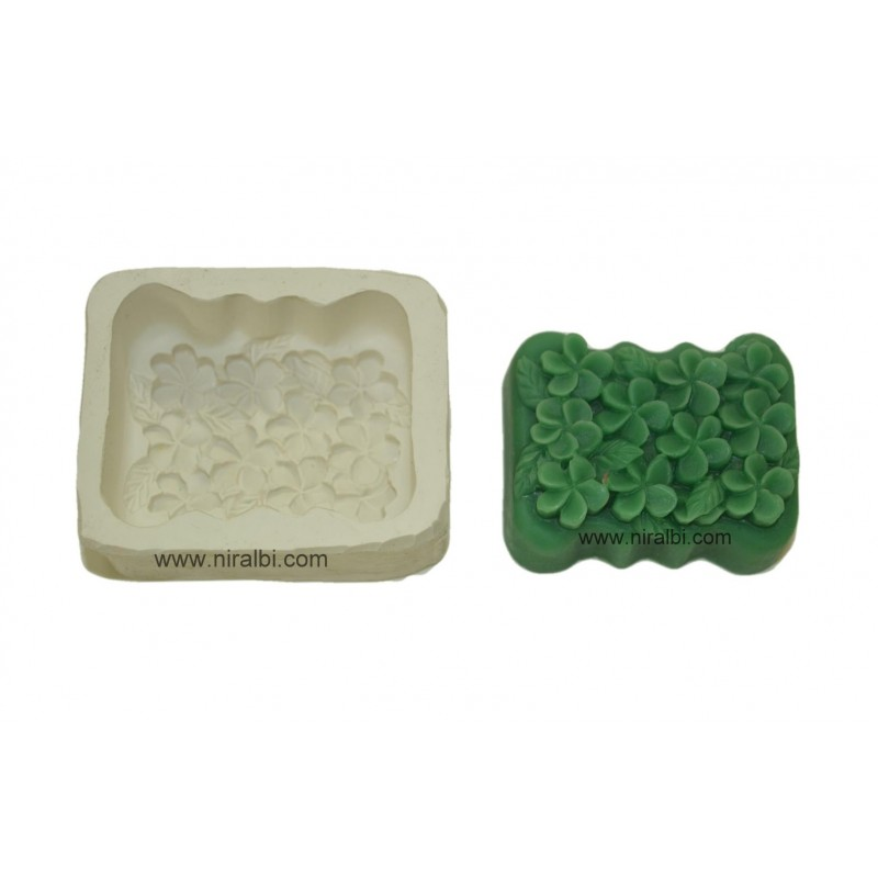 Periwinkle Flowers Rubber Soap Mould