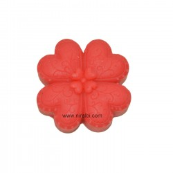 4 Patel Flower Shape Rubber Soap Mould