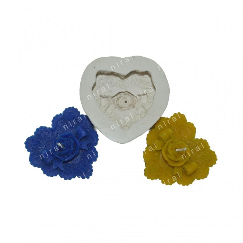 Designer Flower Silicone Soap Making Mould