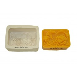 Rose Flower Rectangle Soap Making Mould