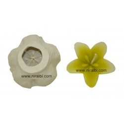 5 Petals Flower Candle Mould