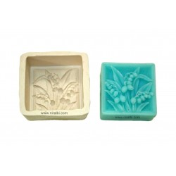 Niral Rose Bud With Leaf Rubber Soap Mould