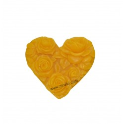 Heart Rose Silicone Soap Mould
