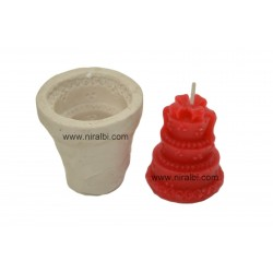 3 Layer Birthday Cake Pillar Candle Mould
