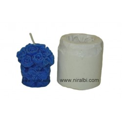 Small Rose Bouquet Pillar Candle Mould