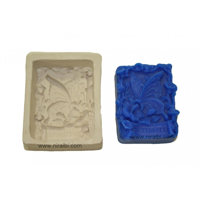 Butterfly Rubber Soap Mould