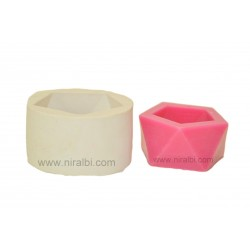 Triangle Cut Pentagonal Shape Hurricane Silicone Candle Mould