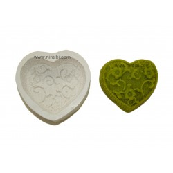 Designer Heart Rubber Soap Mould