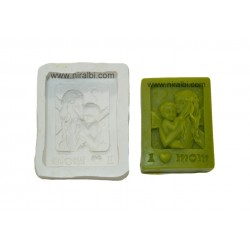Silicone I Love Mom Soap Mould