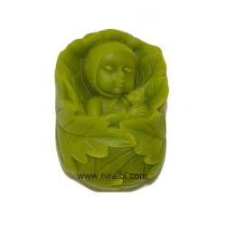 Sleeping Baby Leaf Silicone Soap Mould