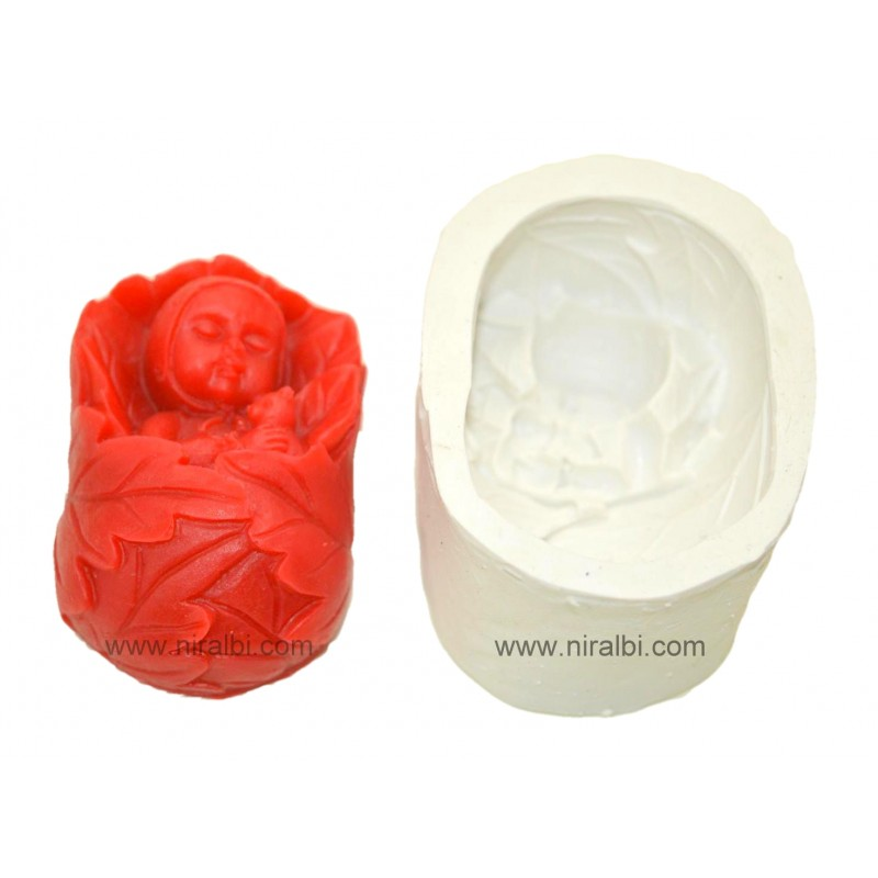 Sleeping Baby Silicone Soap Mould