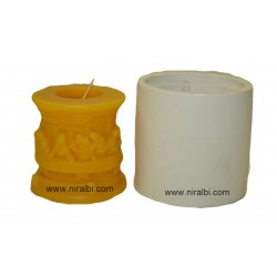 The Last Supper Design Pillar Candle Mould