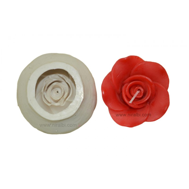 Rose Flower Silicone Candle Mould