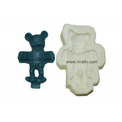 Rubber Teddy Candle Mould