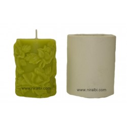 Designer Flower rose Candle Mould