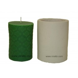 medium designer pillar silicone candle mould