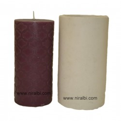 large designer pillar silicone candle mould