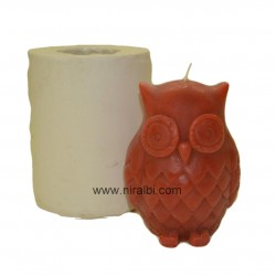 Big Owl Silicone Rubber Candle Mould